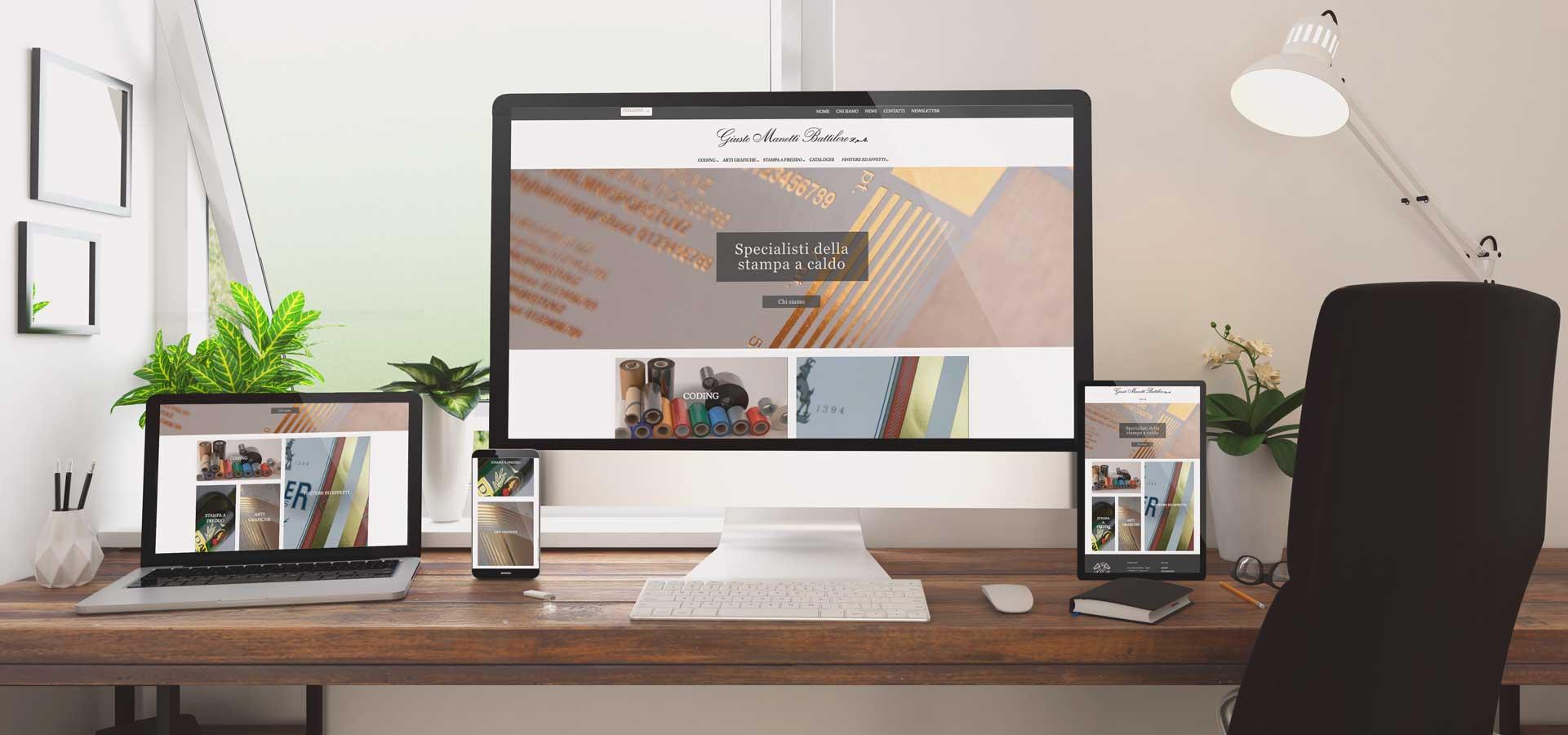 Schermate del nuovo sito - manettifoil.com